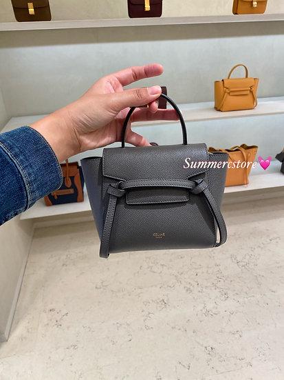 Celine pico belt bag - grey