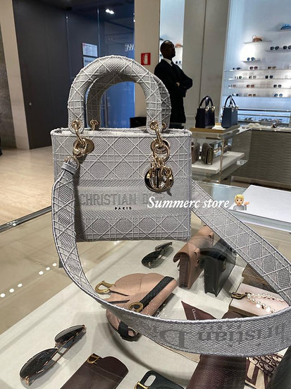 Dior Lady Bag in grey