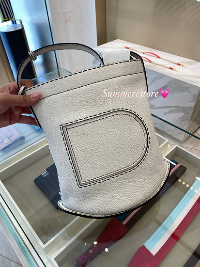 Delvaux pin daily in white