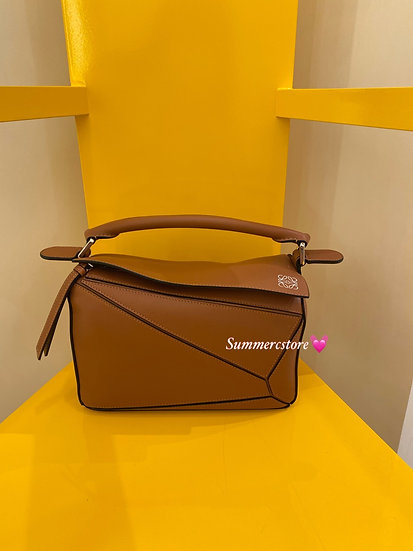 Loewe small puzzle in tan