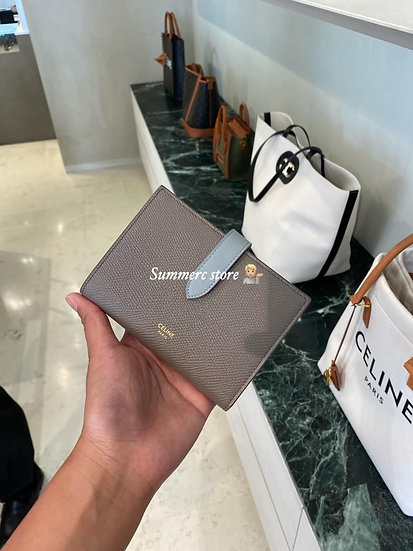 Celine Strap Wallet Grey/Blue