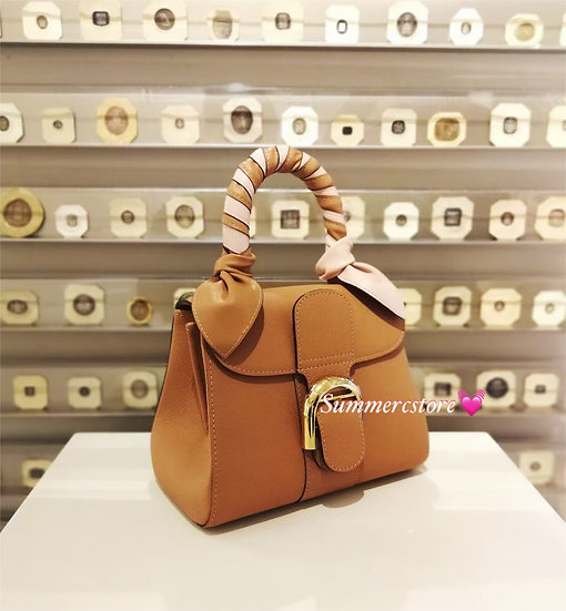 Delvaux brilliant 焦糖色 mini size