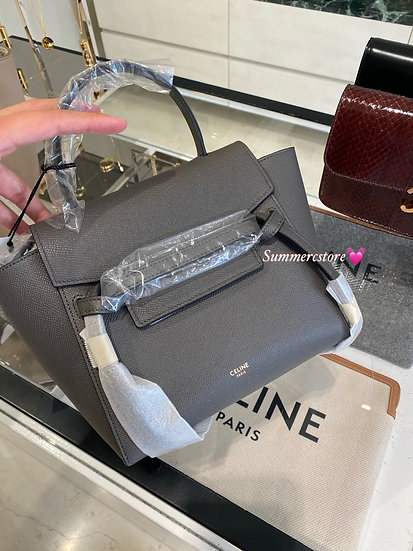 Celine nano belt bag - grey