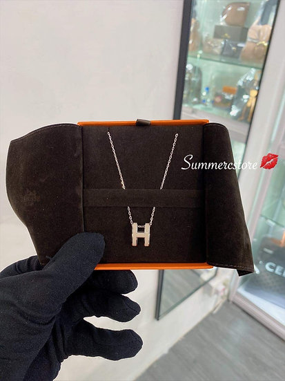 Hermes奶茶色大H頸鏈