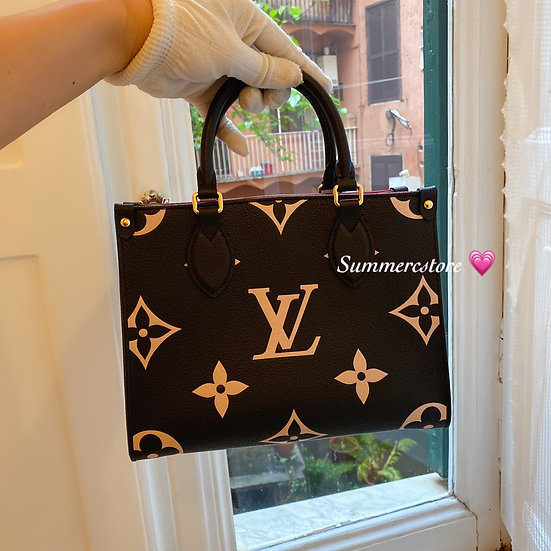 Louis Vuitton on the go pm size