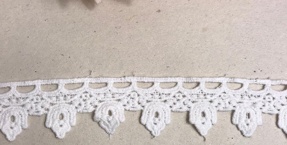 Renda de algodão off white