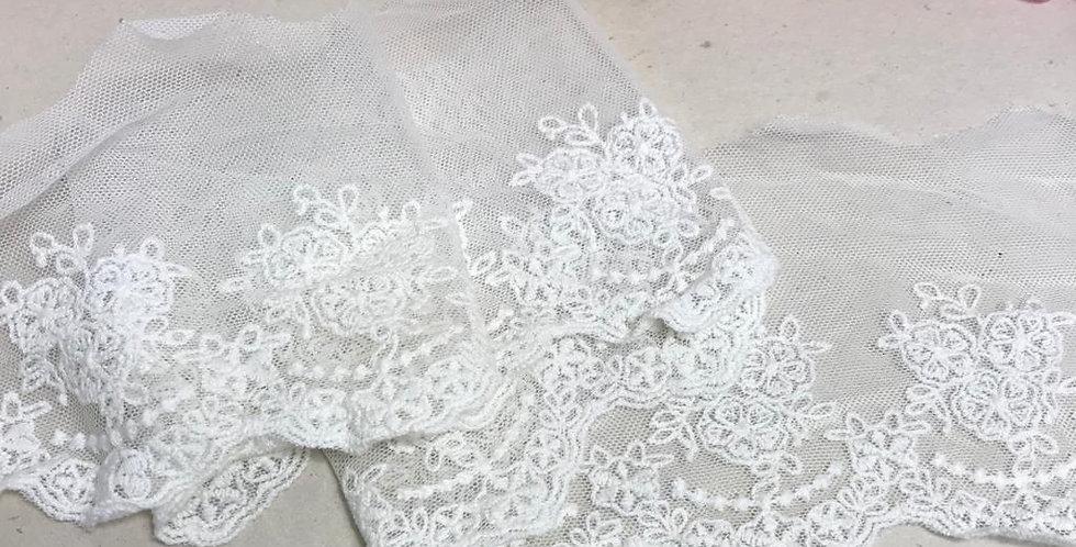 Renda Tule off white