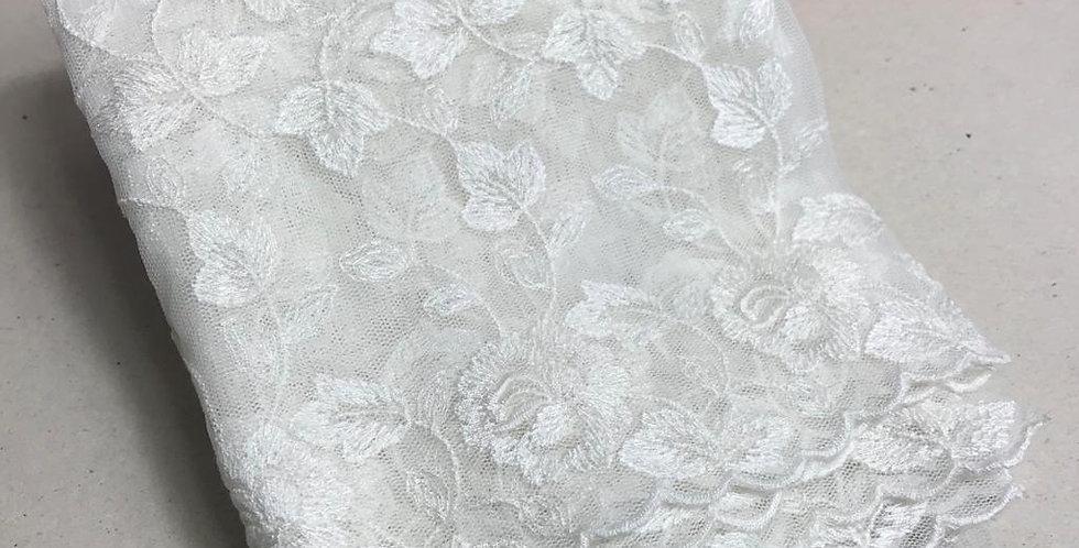 Renda Tule de algodão off white