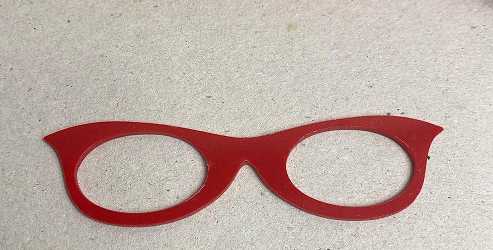 Óculos para Boneca em acrílico- 11x3 cm