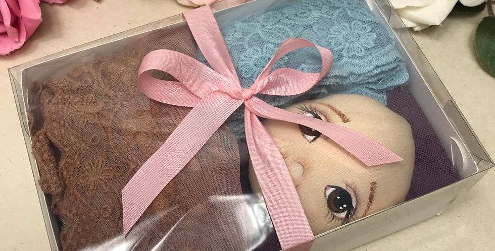Caixa Shabby Chic de Renda com rostinho pintado