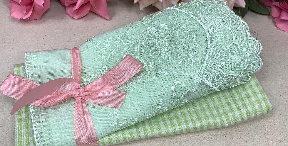 kit  tecido e renda