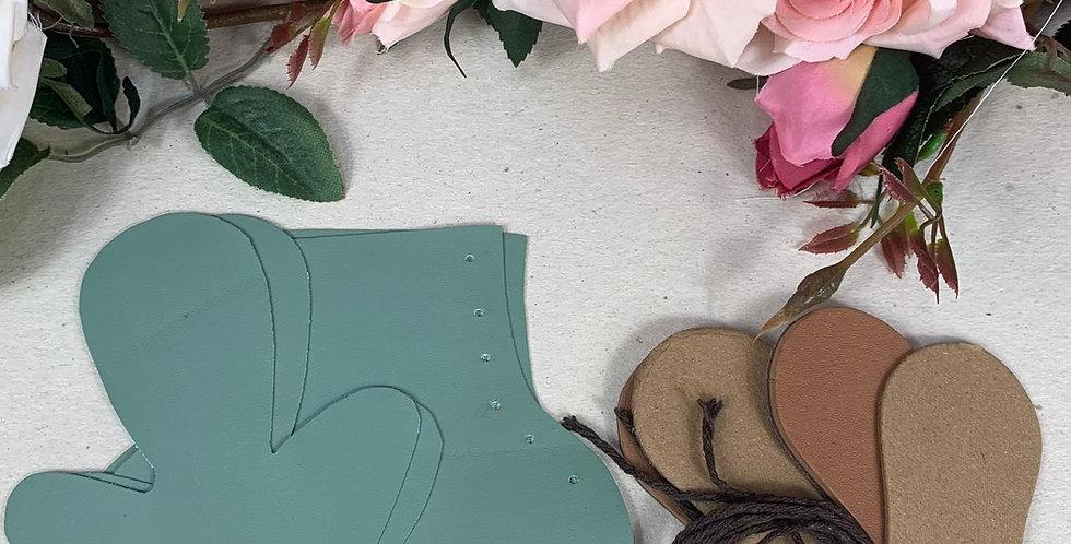 Kit de Botas - Verde Tiffany - 8,5 cm