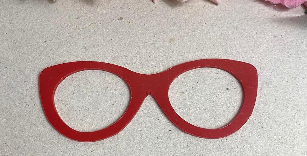 Óculos para Boneca em acrílico- 8x2,5 cm