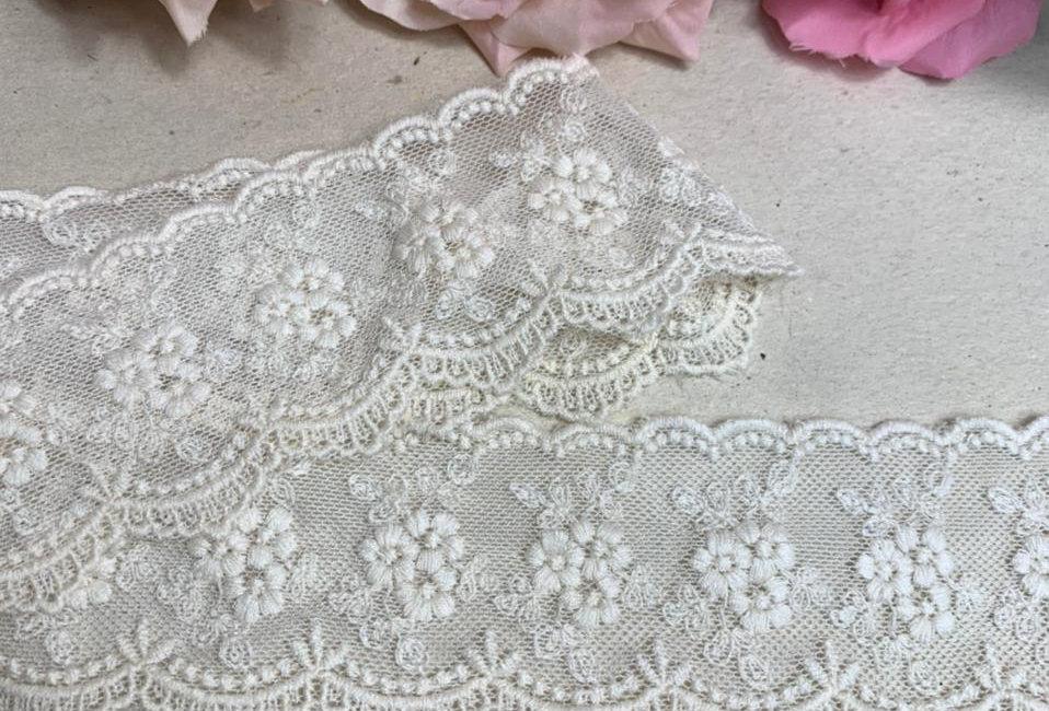 Renda Tule de algodão