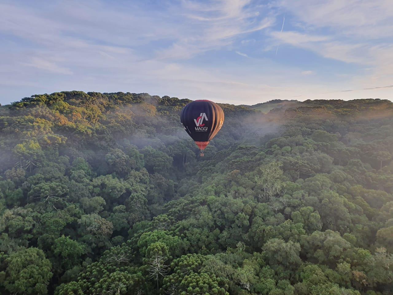 Voo de balão em Cambará do Sul