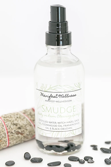 Smudge Spray Essential Oil + Gemstone Body/Room/Linen Spray
