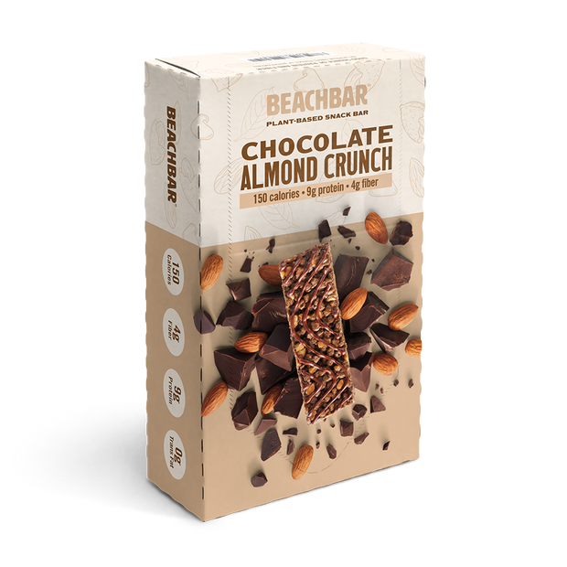 BEACHBAR® Plant-Based Chocolate Almond Crunch, Single Box
