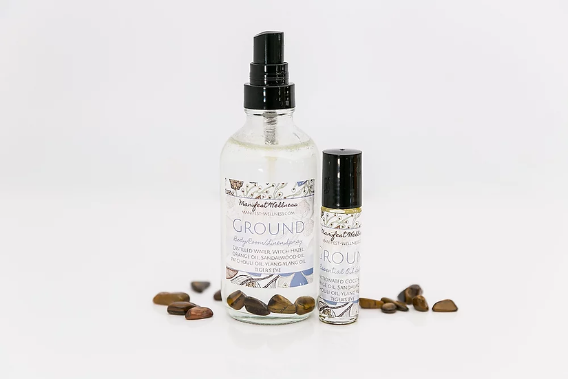 Ground Blend Gift Set Essential Oil Blend + Body/Room Linen Spray