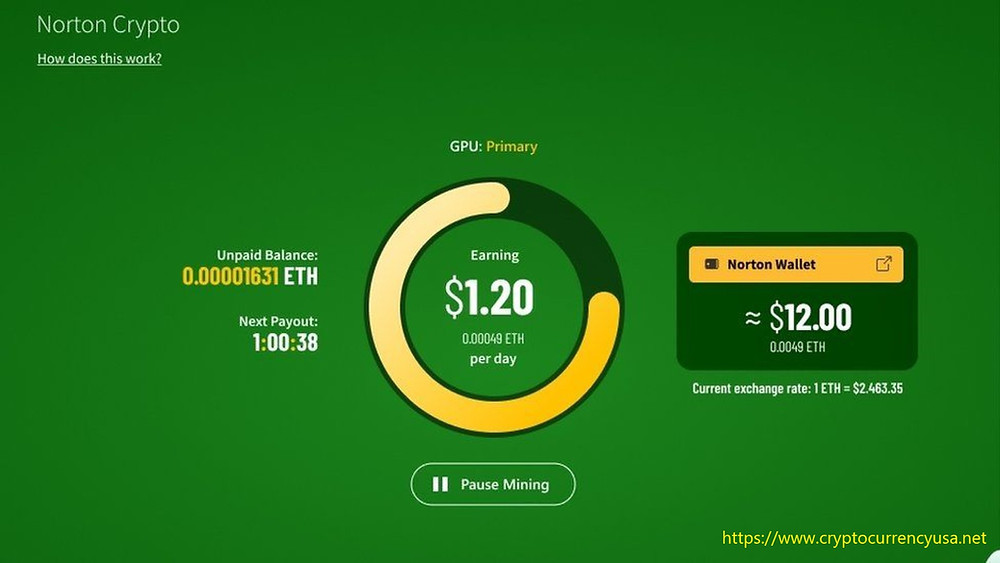 Norton's new feature enables users to mine cryptocurrency securely