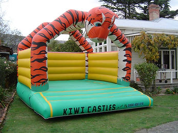 Tiger Themed Bouncy Castle
