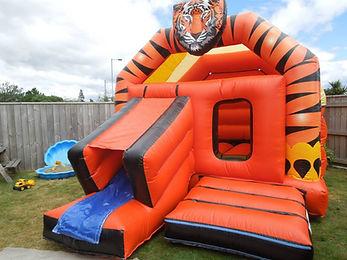 Tiger Slide Bouncy Castle