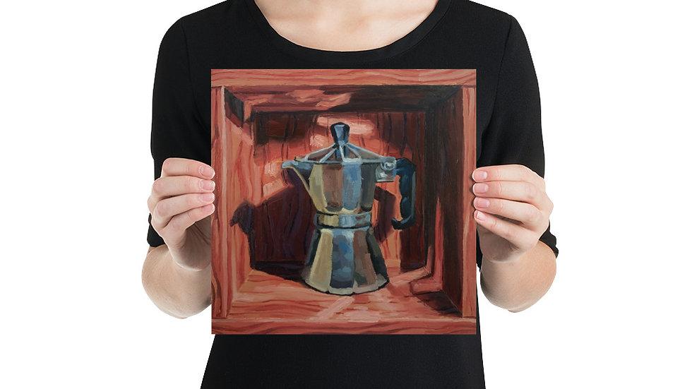 Coffee Moka Pot No. 1 (Matte Paper Art Print) (10x10/12x12/14x14/16x16)