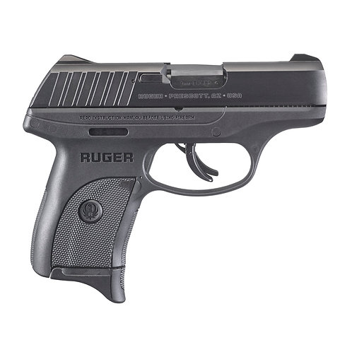 "Ruger, EC9s, Semi-automatic, Striker Fired, Compact, 9MM, 3.1"" Barrel, Nylon Fra"