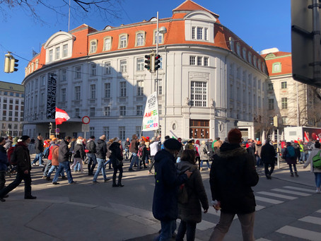 Anti-masker Protest in Vienna's first district