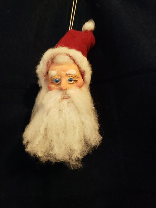 Hand Sculpted Santa Ornament
