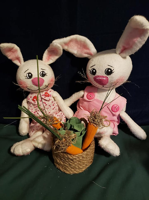 Folk Art Bunny Dolls