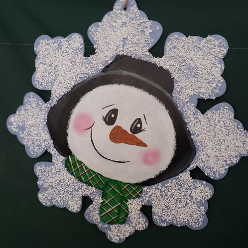 Peeking Snowman Wreath Enhancement/ Door hanger