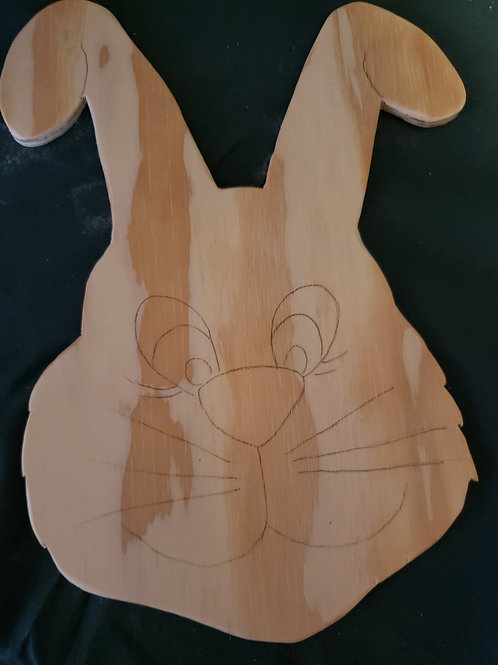 Wooden Bunny Painting Kit with Lesson