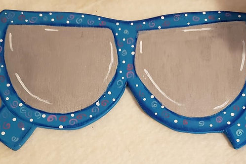 Handpainted Whimsical Sunglasses wreath enhancement/ door hanger