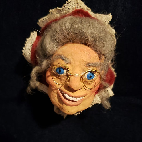 Hand Sculpted Mrs. Claus Ornament