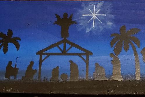 Nativity Sign/ door decor, wreath enchancement