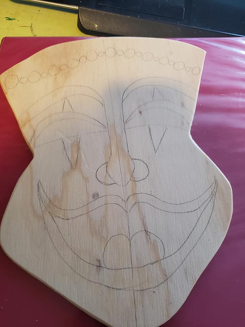 Wooden Painting Kit with Virtual Lesson Mardi Gras
