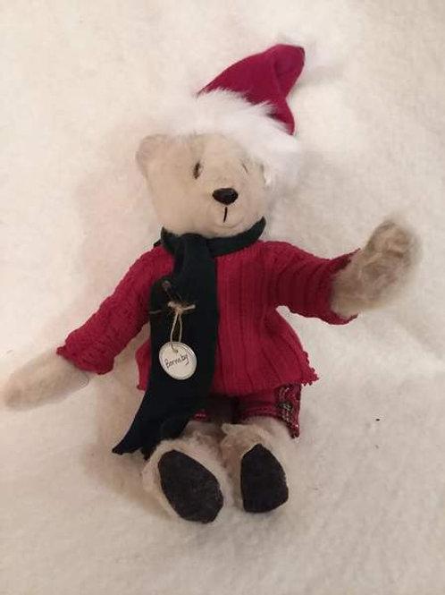 Hand made folk art Christmas Teddy Bear