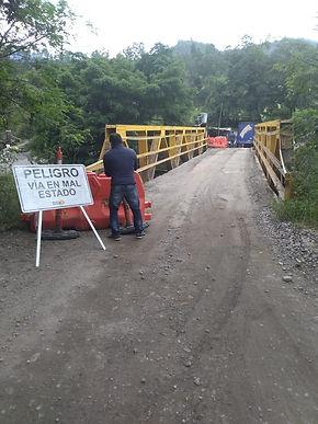 Avanza el puente sobre el río Súnuba