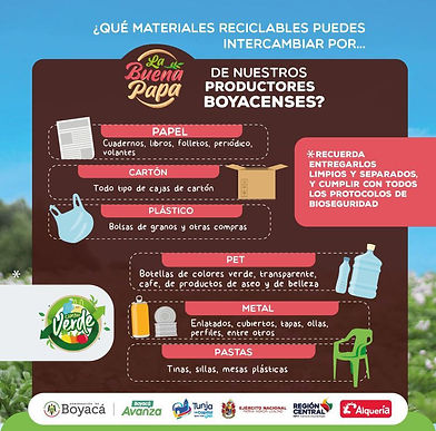 Hoy en Tunja le dan 'buena papa' a cambio de reciclaje