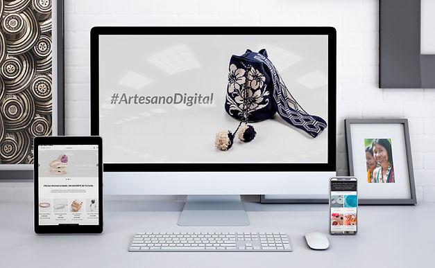 Las artesanías también se venden por plataformas digitales