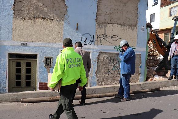 Demolieron un inmueble en el sector de Las Nieves en Tunja