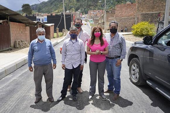Mañana esperan entregar la pavimentación del barrio Las Delicias de Duitama