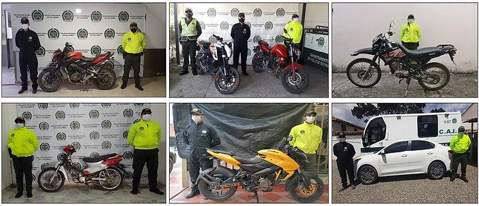 Seis motos y un carro que habían sido hurtados fueron recuperados en Boyacá