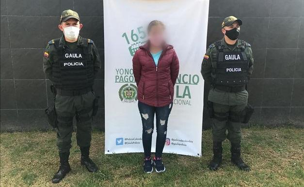 Mujer de 24 años era la encargada de recibir dinero producto de extorsiones
