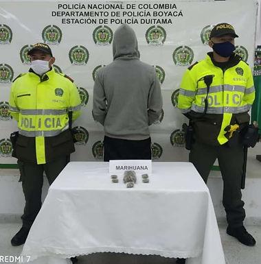 Por 139 gramos de marihuana fue capturado