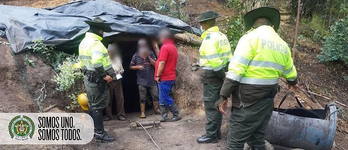 Tres hombres fueron capturados por ejercer minería ilegal