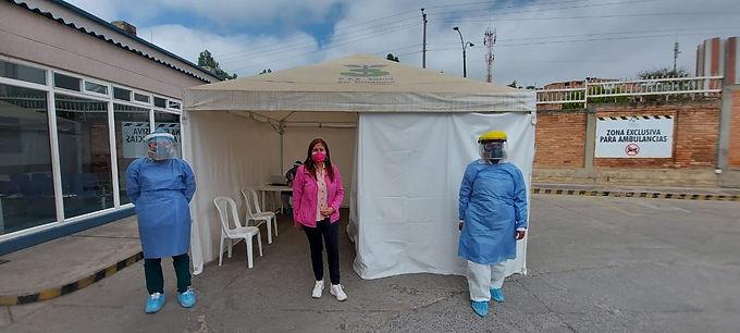 Esta es una nueva semana de la carpa de muestras Covid en el Regional de Duitama