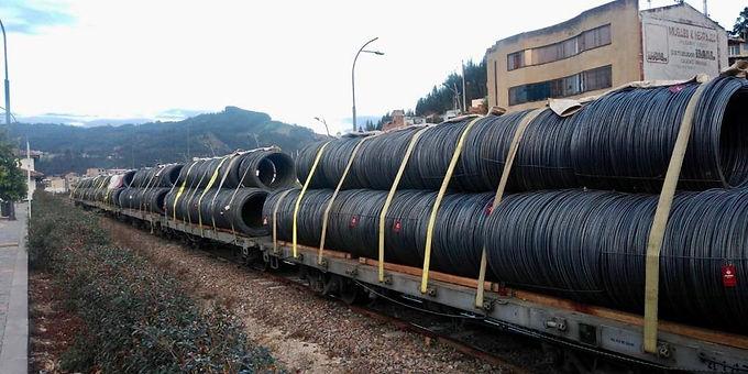 220 toneladas de alambrón fueron movilizadas por el corredor férreo Bogotá-Belencito