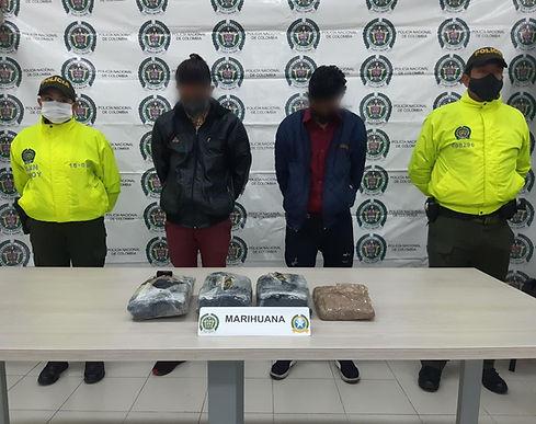 3.907 gramos de marihuana fueron incautados