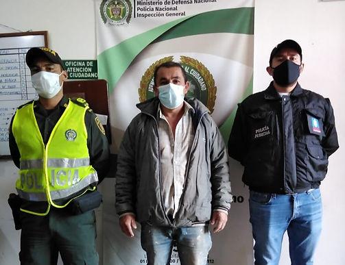 Capturado para cumplir sentencia de seis años de prisión por violencia intrafamiliar